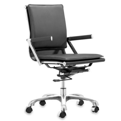 Zuo® Modern Lider Plus Office Chair in Black