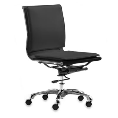 Zuo® Modern Lider Plus Black Armless Office Chair