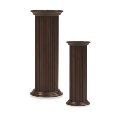 Cooper Classics Round Fluted Pedestal 36-Inch Tall Plant Stand