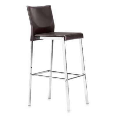 Zuo® Modern Boxter Bar Chair in Black