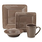Genevieve Chocolate Square Dinnerware