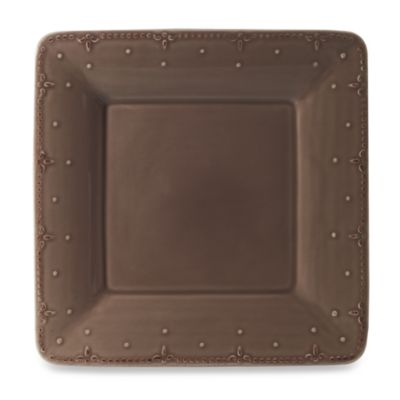 Genevieve Square 10 3/4-Inch Dinner Plate in Chocolate