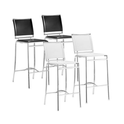 Zuo® Modern Soar Bar Chair (Set of 2) in White