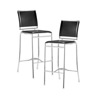 Zuo® Modern Soar Bar Chair in Black (Set of 2)