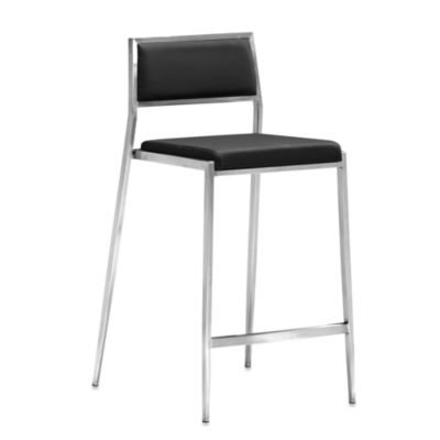 Zuo® Modern Dolemite Counter Chair in Black (Set of 2)