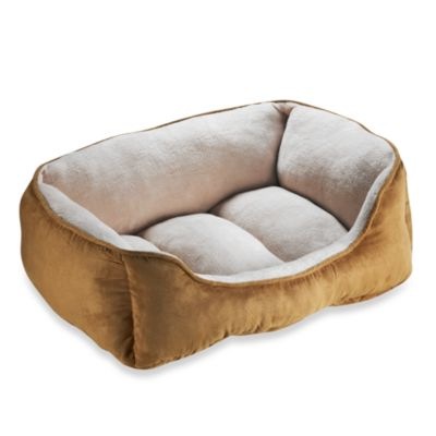 Paws and Claws Suede Hide Lounger Bed in Driftwood