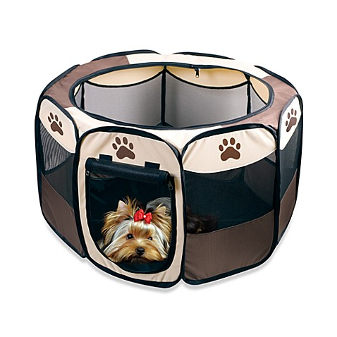 Small Portable Pet Playpen with Folding Design for Easy Storage