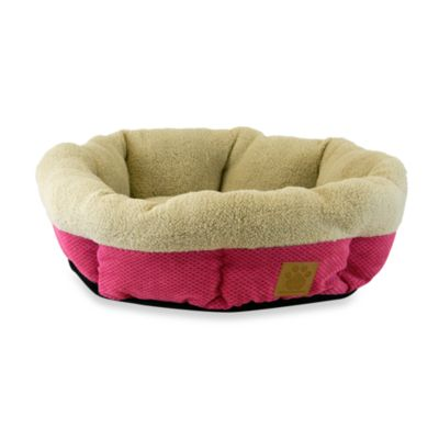 SnooZZy® Mod Chic Round Shearling Pet Cup in Fuschia