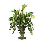 D & W Silks Lush Greens in Footed Urn