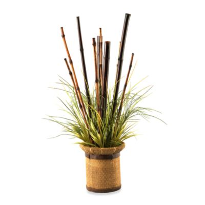 D & W Silks Natural Bamboo Canes and Seagrass