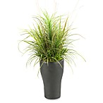D & W Silks 40-Inch Mixed Grasses in Tall Resin Planter