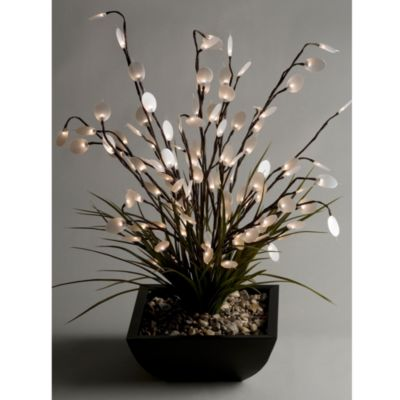 D & W Silks Lighted Silver Dollar Arrangement