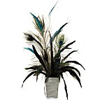 D & W Silks Staghorn Greenery Spray in Glass Vase