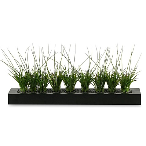 D & W Silks Onion Grass in 32-Inch Tray