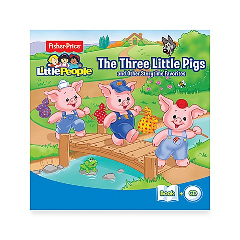 Fisher-Price® Little People Three Little Pigs & Other Storytime Favorites CD/Book Set