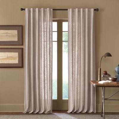 Cambria® Malta 108-Inch Rod Pocket/Back Tab Window Curtain Panel in Linen