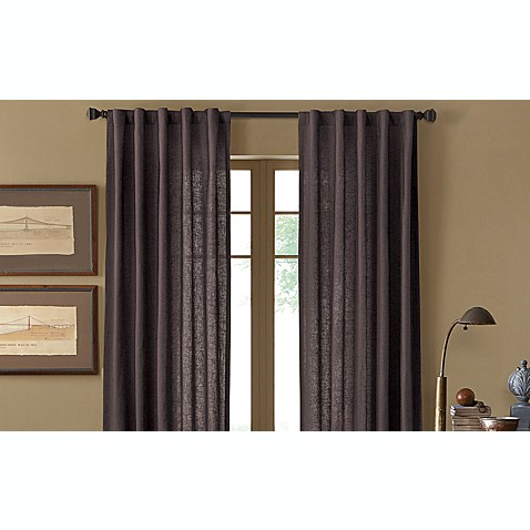 Malta Rod Pocket/Back Tab Window Curtain Panel