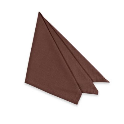 Tuscan Solid Napkin (4 Pack) in Chocolate