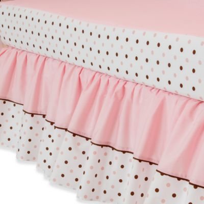 Blue Dot Crib Skirt