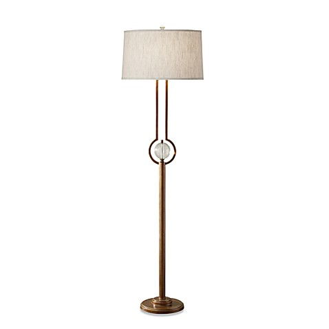 Feiss® Caliper 1-Light Firenze Gold Floor Lamp