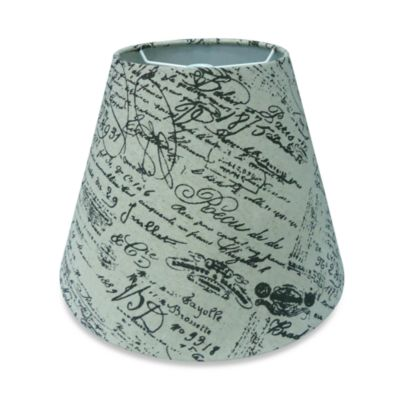 Mix & Match Medium 12-Inch Linen Lamp Shade in Script