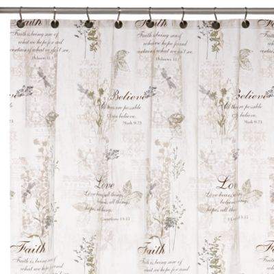 Cherish Shower 70-Inch x 72-Inch Curtain