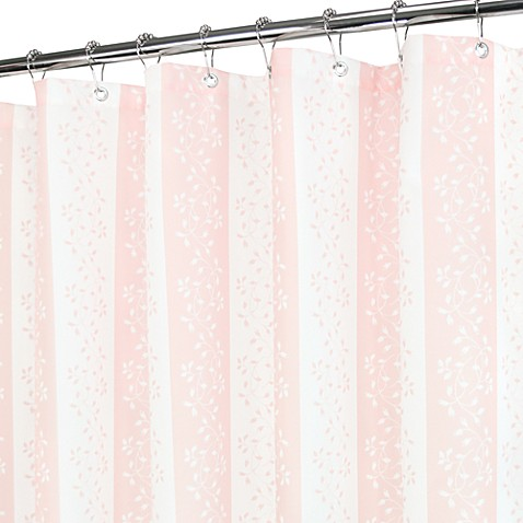 Florentine Stripe Pink And White Shower Curtain Bed Bath Beyond
