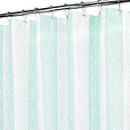 Florentine Stripe Seaglass and White Shower Curtain