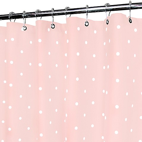 Classic Pink And White Polka Dot Shower Curtain