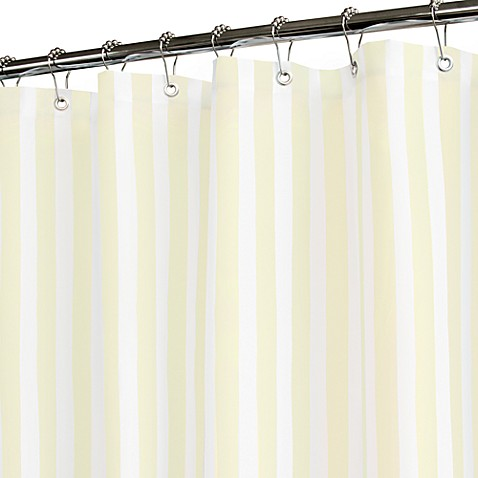Buy Tranquil Stripe Yellow And White Shower Curtain From