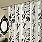 M. Style Cassandra 70-Inch x 72-Inch Shower Curtain in Black/White