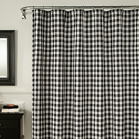 M. Style Classic Check 72-Inch x 72-Inch Shower Curtain in Midnight