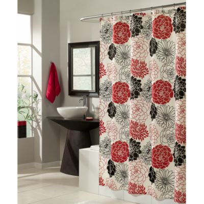 Black an White Shower Curtain