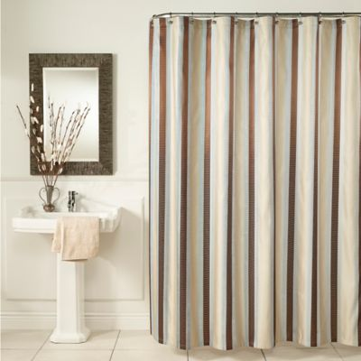 m.style Hudson Stripe 54-Inch x 78-Inch Shower Curtain