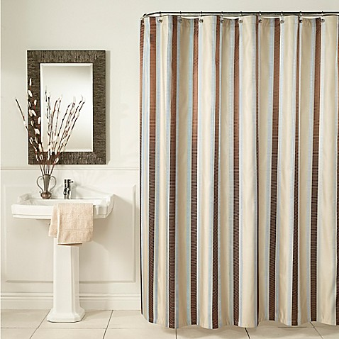 Buy Blue Stripe Shower Curtain from Bed Bath & Beyond