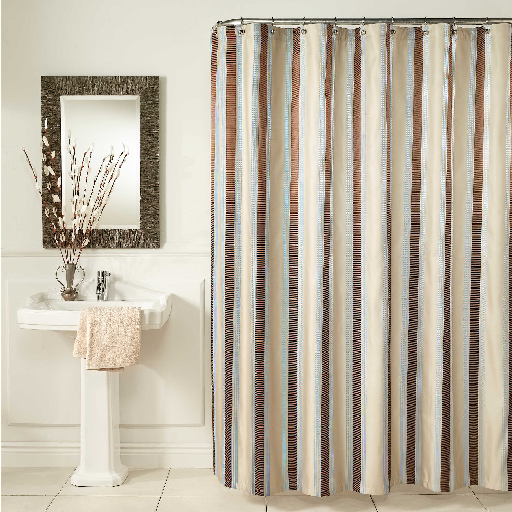 taupe stripe shower curtain images
