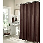 M. Style Waves 72-Inch x 72-Inch Shower Curtain in Chocolate