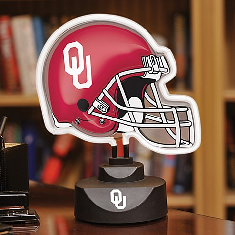University of Oklahoma Neon Helmet Lamp