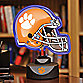 Clemson University Neon Helmet Lamp