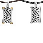 J. Goodman™ Sterling Silver Dog Tag w/Oxided Thatch Design