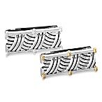 J. Goodman™ Sterling Silver Money Clip w/Oxidized Thatch Design