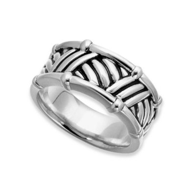 J. Goodman™ Sterling Silver Thatch Design Ring