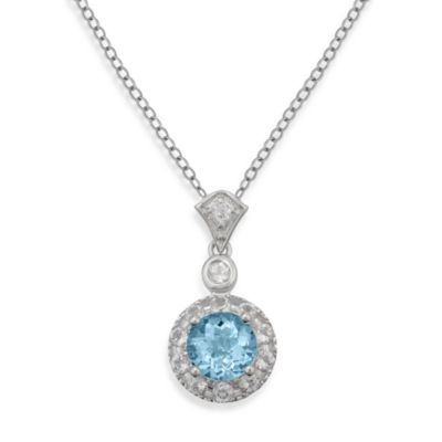 Badgley Mischka White Topaz Pendant
