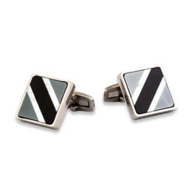 Semi-Precious Titanium Cufflinks