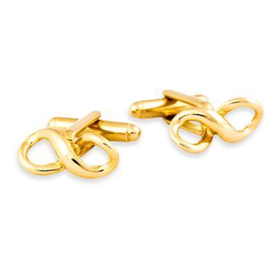 Goldtone Infinity Cufflinks