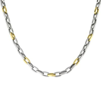 STEL™ 22-Inch Stainless Steel and Yellow Ion-Plated Necklace