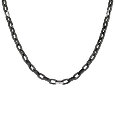 STEL™ 22-Inch Ion-Plated Stainless Steel Necklace in Black
