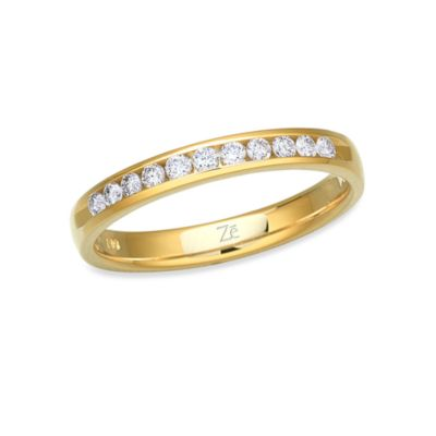Ze™ 14K Yellow Gold and Diamond Size 6 Ring