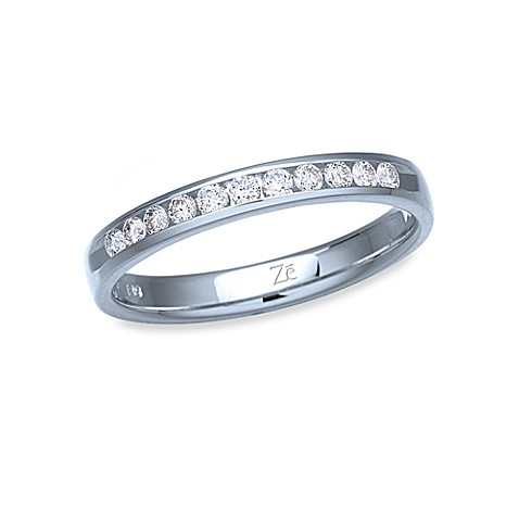 Ze™ 14K White Gold and Diamond Size 6 Band