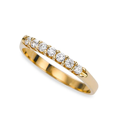 Ze™ 14K Yellow Gold Diamond Prong Set Size 6 Band